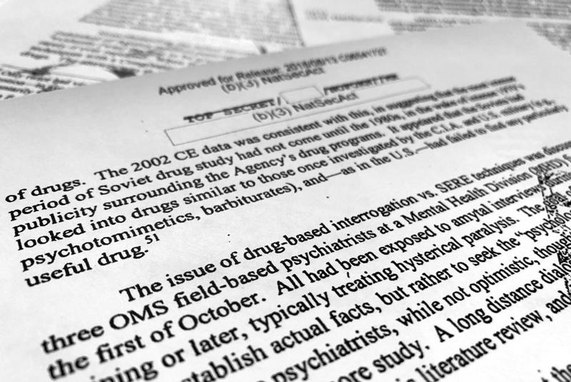 Relatório sobre uso de drogas em torturas pós-11 de setembro.