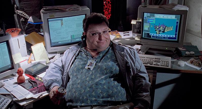 O programador Dennis Nedry.