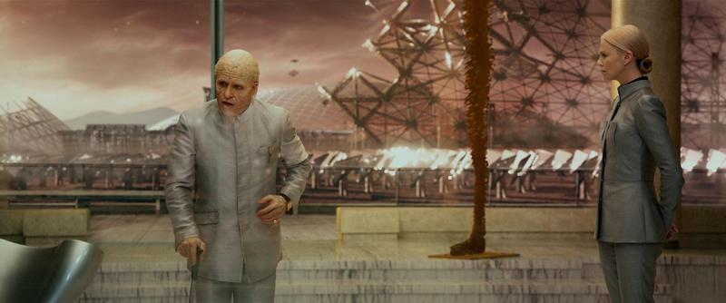 Peter Weyland e a filha.