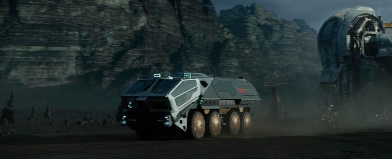 Veículo de transporte de passageiros Weyland RT01.