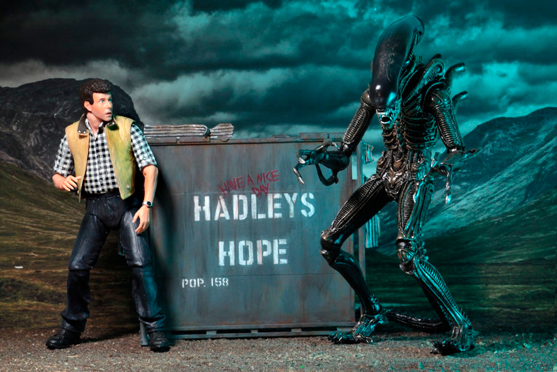 Action figures do filme Aliens, o Resgate.