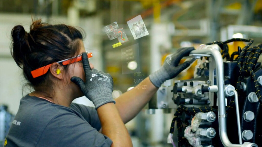 Imagem conceitual do Google Glass.