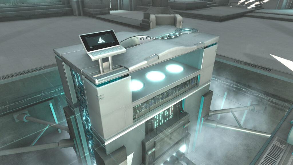 A máquina Animus nos laboratórios da Abstergo Industries.