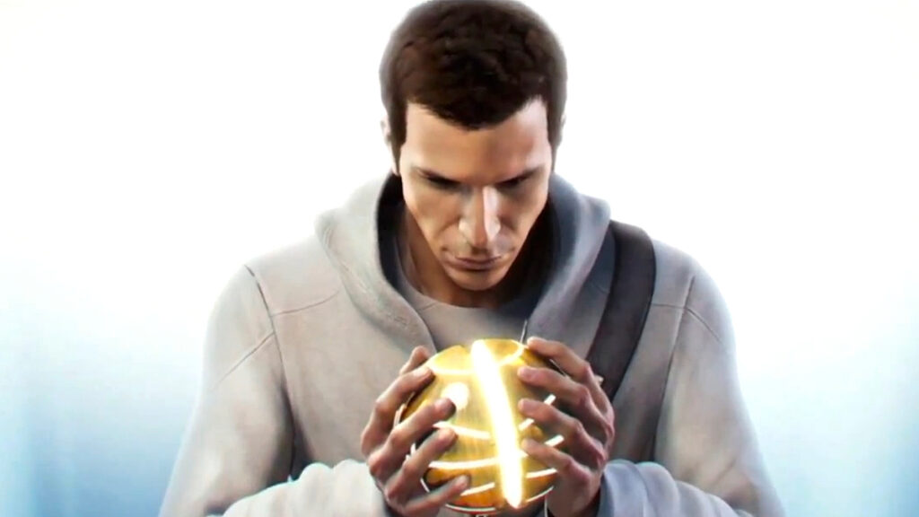 Desmond Miles ativando um Pedaço do Éden.