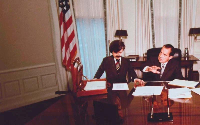 Bolivar e Nixon na Salão Oval da Casa Branca.