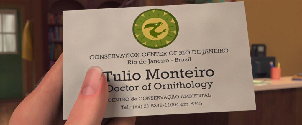 Cartão de visitas do doutor brasileiro.