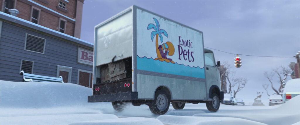 Transporte de animais exóticos.