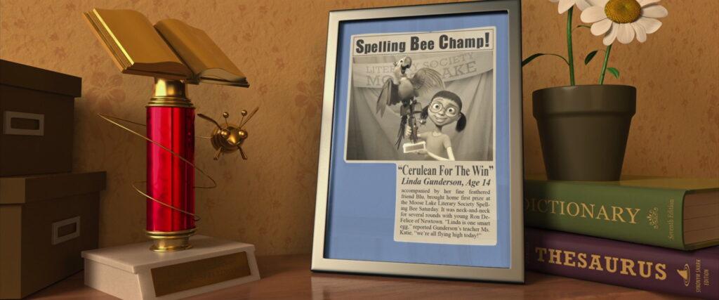 Matéria do jornal quando a menina ganhou um prêmio de literatura.