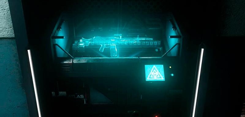 Impressão 3D de um rifle de assalto.
